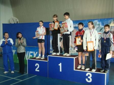 Победители и призеры в смешанной парной категории в младшей возрастной группе